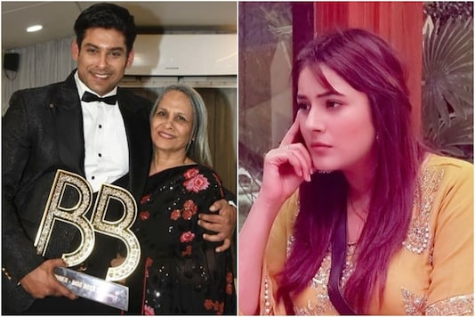Sidharth Shukla with his mother (L), Shehnaaz Gill