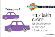 Union Budget 2020: Rs 1.7 Lakh Crore Allotted for Development of Transport Infrastructure