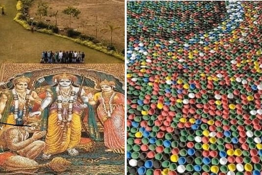 Portrait of Lord Ram Made with 2 Lakh Diyas Sets a New World Record