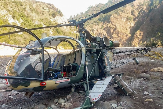 Army helicopter crash-landed in J&K's Udhampur. (PTI)