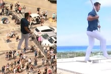 Watch: Man Finishing a 200-Foot-Long Skywalk across Two Hotel Towers in Hawaii is Chilling