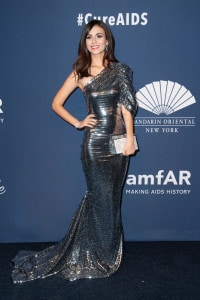 Victoria Justice smiles for a photo at the 2020 amfAR New York Gala in New York City. (Image: AP)