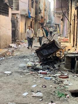 File photo of a riot-hit lane in Delhi.