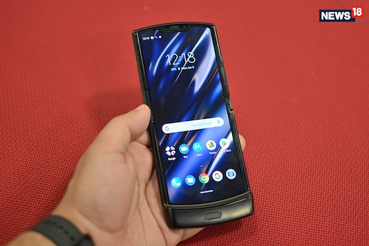 The new Moto Razr has been launched in India bringing back the icon in a new avatar. (Photo: Kunal Khullar/News18.com)