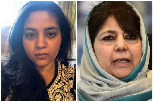 Mehbooba Mufti's daughter Iltija took to Twitter to share her distress after the former was booked under PSA | Image credit: PTI