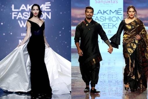 Lakme Fashion Week: Nora Fatehi, Bipasha Basu, Karan Grover Make Statement of Glamour and Grace With Black