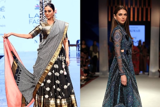 Tabu Walks Runway Barefoot in Ethnic Creation, Aditi Rao Hydari Stuns in Indo-western Fusion at LFW