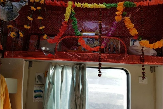 Lord Shiva has a seat reserved for him on the Kashi Mahakal Express.