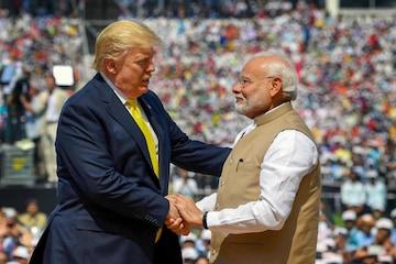 For representation: PM Modi with US President Donald Trump at Ahmedabad's Motera Stadium. (PTI)