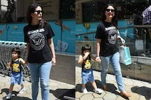 Taimur Relishes His Ice-cream as He Steps Out with Kareena Kapoor and Saif Ali Khan, See Pics