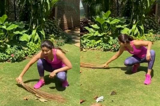 Shilpa Shetty Cleans Up Garden, Pens Heartfelt Note for House Help