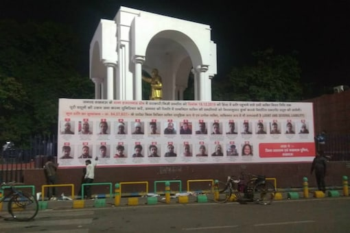 Hoardings featuring the names, photos and addresses of 53 anti-CAA protesters in Uttar Pradesh.
