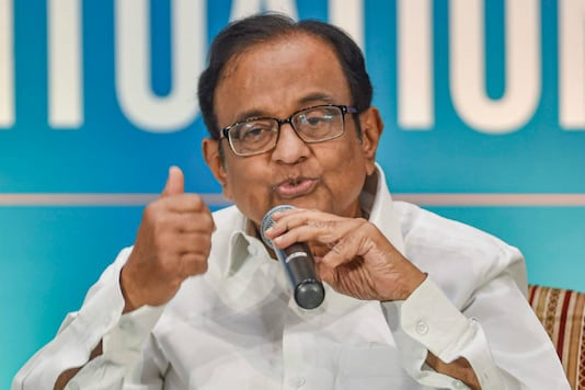 File photo of former finance minister and senior Congress leader P Chidambaram.