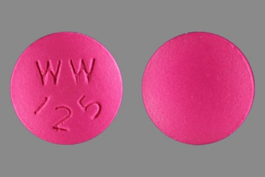 Chloroquine WW125 tablet (Image: Drugs.com)