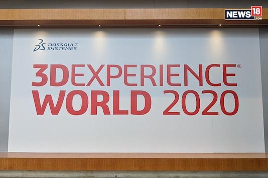 A photo of the Dassault Systemes 3DExperience World 2020 banner taken in Nashville, Tennessee. (Photo: Manav Sinha/News18.com)