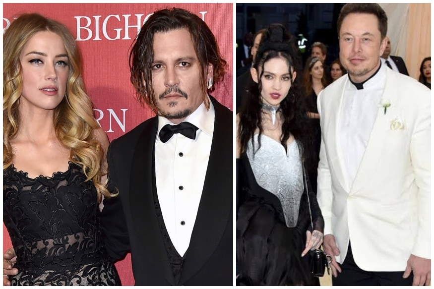 Amid Johnny Depp's Cheating Allegations Against Amber Heard, Elon Musk Splits with Pregnant GF Grimes: Re... - News18