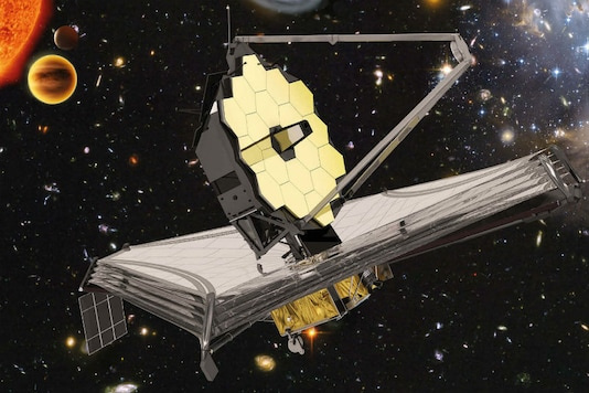 An artist's impression of the James Webb Space Telescope. (Image: European Space Agency)
