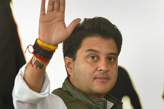 File photo of BJP leader Jyotiraditya Scindia. (PTI)