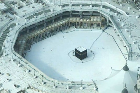 The grand mosque at Mecca lies empty amid the coronavirus outbreak.