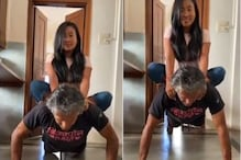 Milind Soman Does Push-ups with Wife Ankita Konwar Sitting on His Back, Watch Video
