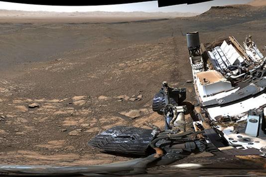 A section of the 1.8 billion-pixel panorama shot by the NASA Curiosity rover, overlooking Glen Torridon on Mars. (Photo: NASA-JPL)