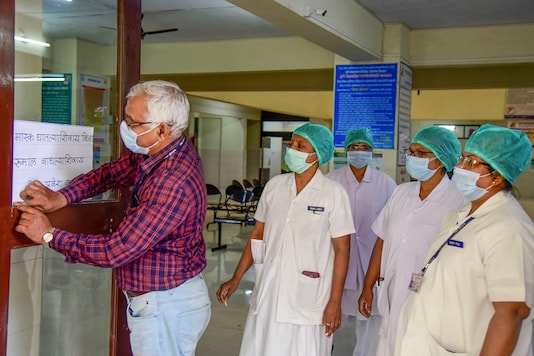 File photo of medical staff at Naidu Hospital, in Pune. (Image: PTI)