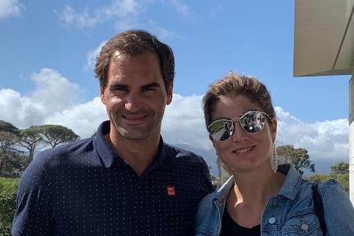 Roger Federer and his wife Mirka (Photo Credit: rogerfederer)