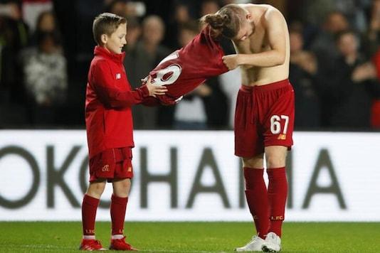 Liverpool child mascot (Photo Credit: Reuters)
