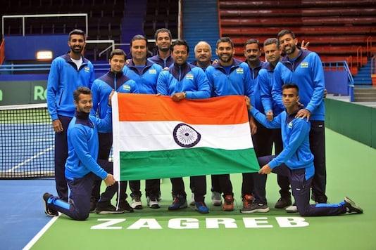 India's Davis Cup team (Photo Credit: Twitter/@MaharashtraOpen )