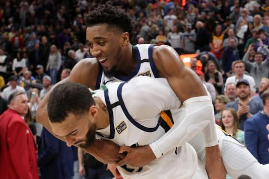 Rudy Gobert and Donovan Mitchell (Photo Credit: Reuters)