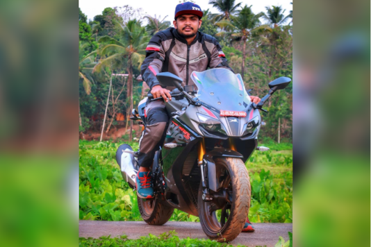 The new Apache RR 310 gifted by TVS. (Image source: Instagram/ The Mallu Traveller)