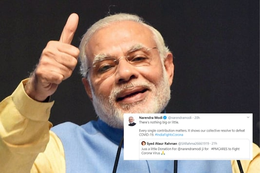 PM Modi personally congratulated the man for donating to the PM Care Fund | Image credit: PTI