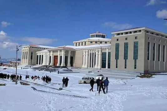 File picture of the Assembly building at Gairsain during winters. (News18)
