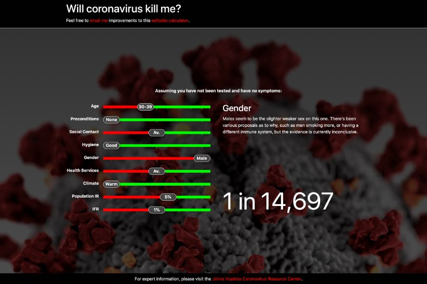 Can The Coronavirus Kill You? This Website Attempts to Give You The Good or Bad News