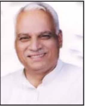 Uttar Pradesh BJP MLA from Bulandshahr, Virendra Singh Sirohi, who passed away on Monday morning in New Delhi.  (Image: Uttar Pradesh Legislative Assembly)