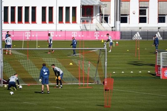 Bayern Munich training during coronavirus (Photo Credit: Reuters)