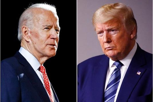 Former Vice President Joe Biden and US President Donald Trump. (AP Photo)