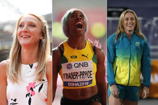 Paula Radcliffe, Shelly-Ann Fraser-Pryce and Sally Pearson (Photo Credit: Reuters)