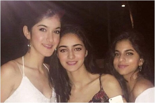 Suhana Khan with Ananya Panday and Shanaya kapoor