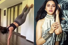 Rakul Preet Tries The Handstand T-shirt Challenge, Watch Her Nail It