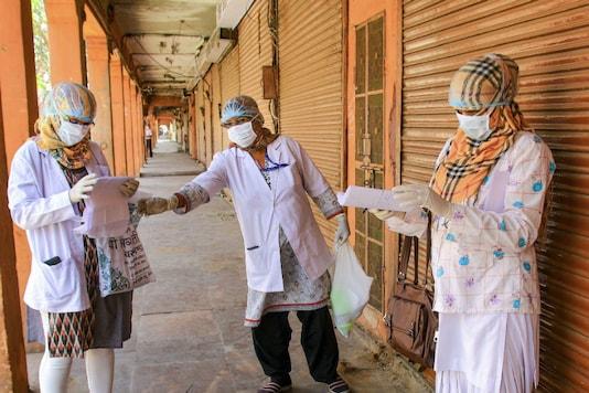 Medics on duty in Jaipur. (PTI)