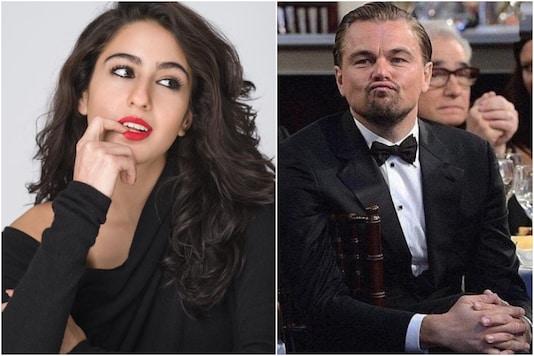 Sara Ali Khan, Leonardo DiCaprio (R)