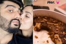 Malaika Arora Treats Arjun Kapoor To Chocolate Dessert, He Shares Love-filled Post