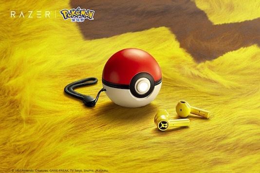 Razer's new Pikachu-themed wireless earbuds. (Photo: Razer)