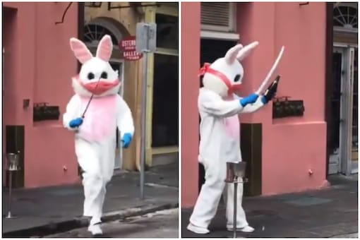The Easter bunny is a regular Easter feature in New Orleans   Image credit: Twitter