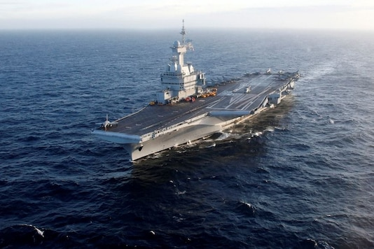 File photo of French aircraft carrier Charles de Gaulle.
