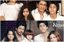 Collage of Shah Rukh Khan's Then and Now Family Photos Goes Viral