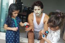 Karanvir Bohra Shares Pic of Daughters Applying Nail Paint on Him, Warns Kareena-Priyanka of Competition