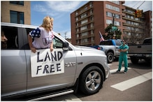 Nurses Hailed as Heroes for Standing up to Protesting Covidiots in Denver, US