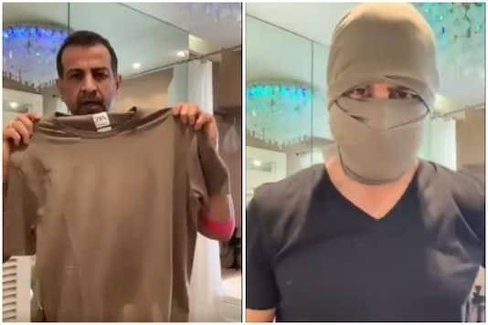 Actor Ronit Roy has found a purpose for all those old t-shirts amid coronavirus pandemic   Image credit: Twitter